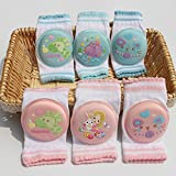 GuiXinWeiHeng 6pcs Children knee pads cotton baby baby crawling step knee children shatter-resistant elbow sports safety gear(random color)