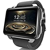 BUYYO LEMFO LEM4 PRO 3G Smart Watch Phone, 2.2 Inch Big Screen Android, 1.3MP Camera, MT6580 Quad Core 1.3Ghz 1GB RAM 16GB ROM, GPS/Heart Rate Monitor/Pedometer Smartwatch for Android iOS(Black)