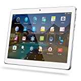 "Android Tablet 10 Inch Sim Card Slots - YELLYOUTH 10.1"" 4GB RAM 64GB ROM Octa Core 3G Unlocked GSM Phone Tablet PC WiFi Bluetooth GPS - Silver"