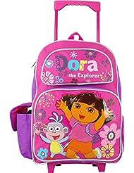 Dora the Explorer 16 Inch Large Rolling Backpack.