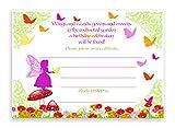Garden Fairy LARGE Invitations - 10 Invitations 10 Envelopes