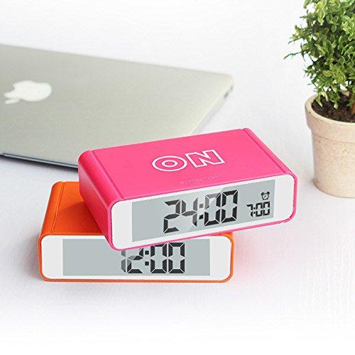 Smart Turn ON / OFF Snooze Light Sensor Digital Alarm Clock (Pink)