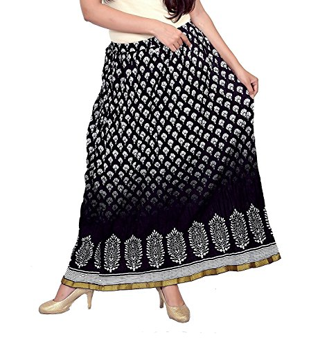 Regular Indian N2CREATIONS Handicrfats Export Women Skirt Printed xUqz1w0