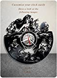 The Little Mermaid vinyl clock, walt disney vinyl wall clock, vinyl record clock hans christian andersen animated fantasy film princess ariel kids clock wall art home decor 096 - (a2)
