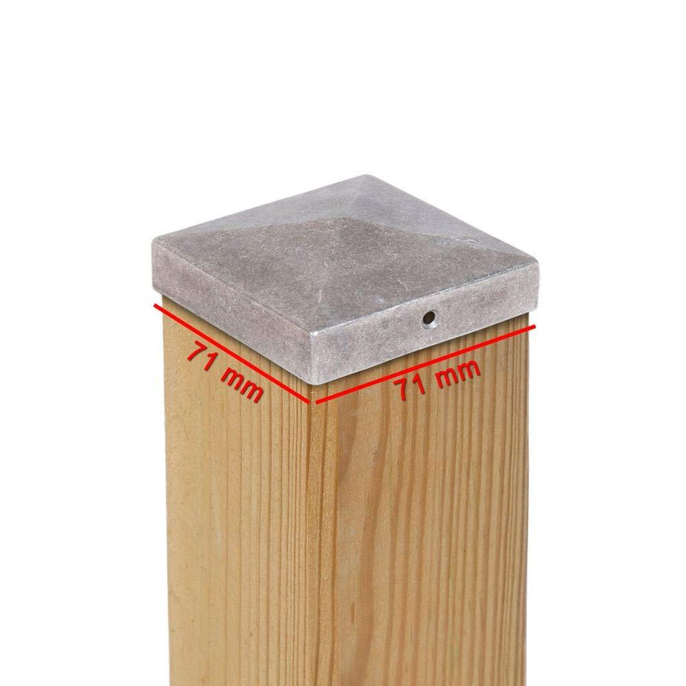Dimensiones elegibles Tapas para postes PYRAMIDE de aluminio