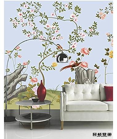 HUANGYAHUI Hand Gezeichnet Blume Und Vogel Malerei, Tapeten, Hotel,  Wohnzimmer, Esszimmer,