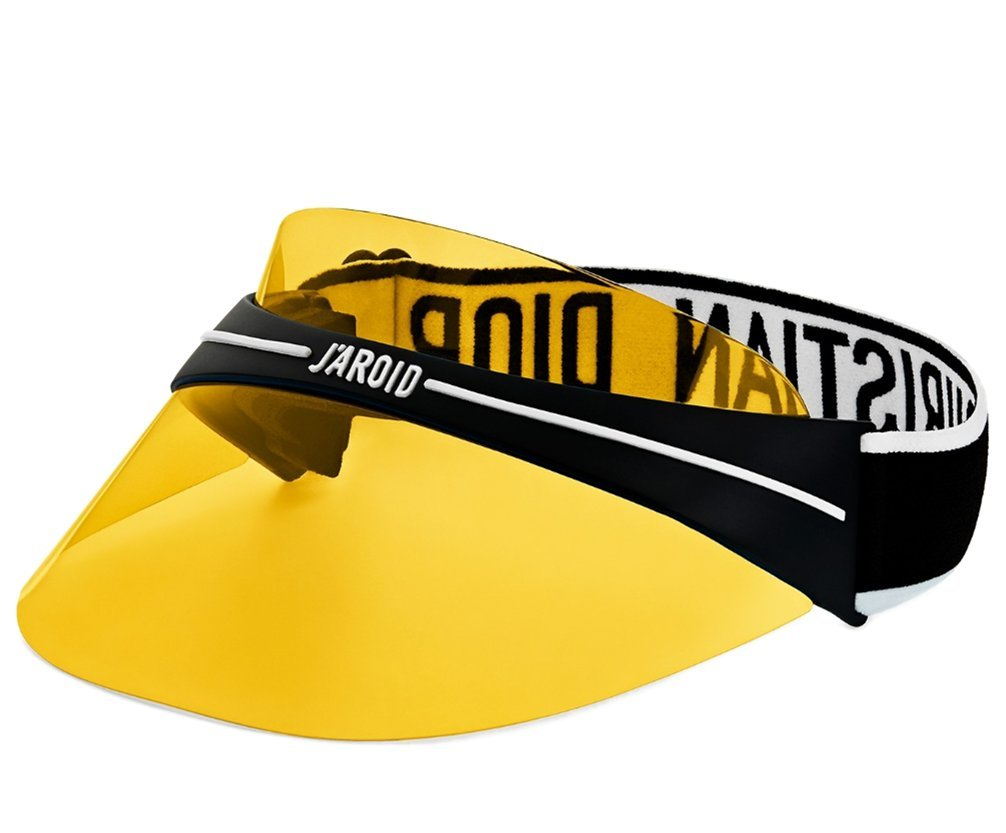 Luxury High End France Club1 Visor Transparent Logo branding elastic strap sunglass EYEWEAR yellow