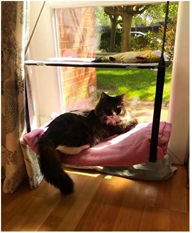 Nala - Hamaca para ventana de gato, de doble pila, con ventosa, para gato, para gato, reposo, suave esterilla 9