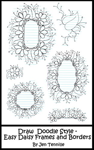 Draw Doodle Style Easy Daisy Frames And Borders Step By Step
