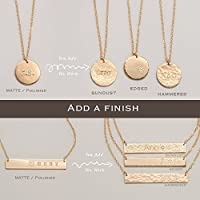 Add a special finish to your GIGIMEY Custom jewelery