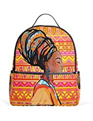 JSTEL African Women School Backpacks for Boys Girls Bookbag