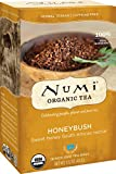 Numi Organic Tea Honeybush, 18 Bags, Honeybush Herbal Tea in Non-GMO Biodegradable Tea Bags, Caffeine Free Herbal Teasan, Premium Organic Non-Caffeinated Tisane
