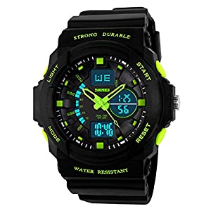 Kids Watches, Digital Analog Sports Waterproof Outdoor Wristwatch with Alarm Boys Led Watch,Children Gift