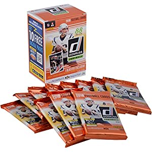 2018 Donruss Football Factory Sealed 11 Pack Fanatics Exclusive Blaster Box Football Wax Packs