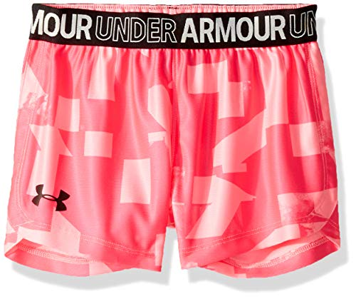 Under Armour Girls' Little Play Up Short, Mojo Pink-S19, 5