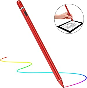 Stylus Pen for Touch Screens, Molichang Active Pen Digital Pencil Fine Point Compatible with iPhone iPad and Other Tablets (Red)