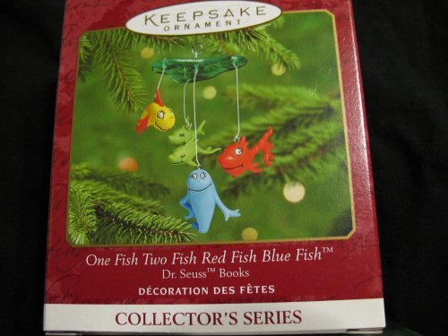 Hallmark Keepsake Ornament One Fish Two Fish Red Fish Blue Fish Dr. Seuss Books Series (2000) QX6781 ()