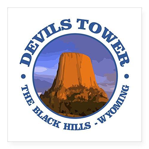 CafePress - Devils Tower (Rd) Sticker - Square Bumper Sticker Car Decal, 3