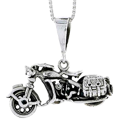 Sterling Silver Motorcycle - 1