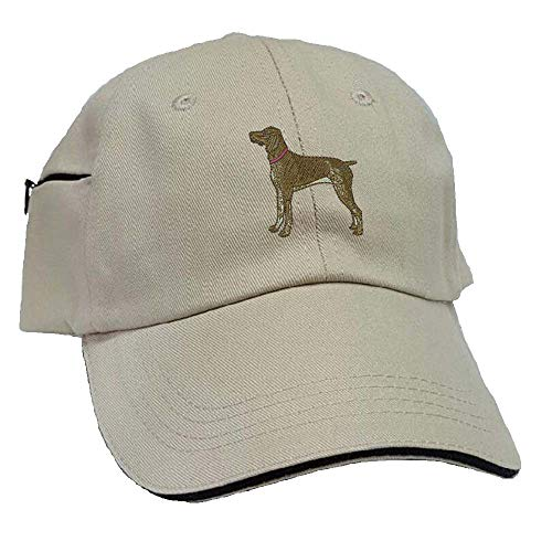 - YourBreed Clothing Company German Short-Haired Pointer Low Profile Baseball Cap with Zippered Pocket.