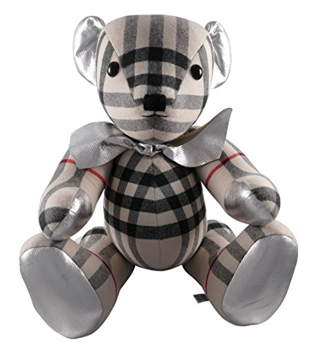 (Burberry Large Thomas Bear in Check 100% Cashmere 4042518 Made in England 65cm )