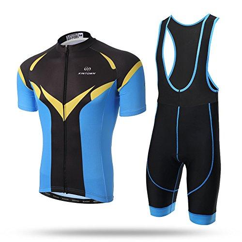 Xintow Men's Cycling Jersey Shorts Sleeve Bicicleta Bike ...