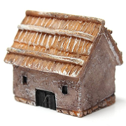 SODIAL(R)Miniature Classic Rustic Cottages Craft Woodland Planter Pot Garden Home Decor Small