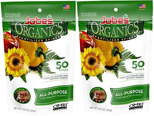 (Jobes 06528 Organics All Purpose Fertilizer Spikes 4-4-4 50 Count)