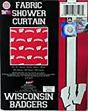 The Northwest Company Wisconsin Badgers NCAA Fabric Shower Curtain (72x72)