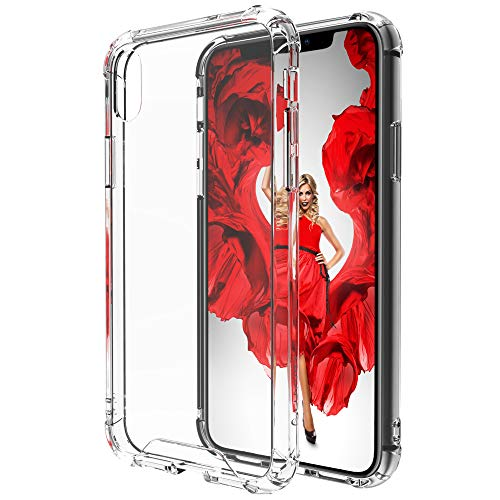 Luvvitt Crystal View iPhone Xs Max Case with Shockproof Drop Protection Slim Soft Hybrid TPU Gel Bumper and Hard PC Scratch Resistant Back for 6.5 inch Apple iPhone Xs (2018) - Crystal Clear