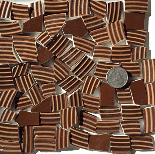 Mosaic Art & Craft Supply ~ Rich Brown Textured Tiles (B285)