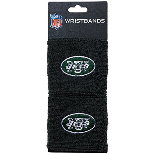 NFL New York Jets Franklin Sports New York Jets Embroidered Wristbandsnfl Embroidered Wristbands, Green, One Size (Ny Green)