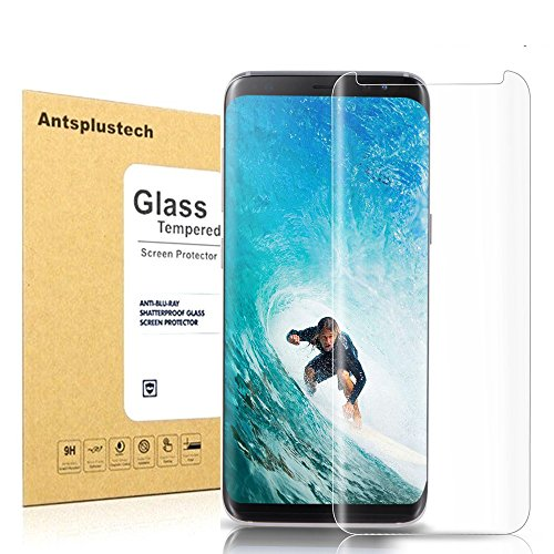 For Galaxy S8 Tempered Glass Screen Protector,Antsplust 9H Hardness HD Anti-Scratch Screen Protector[Ultra-Clear] [Bubble-free Installation] [Anti-Fingerprint] for Samsung Galaxy S8