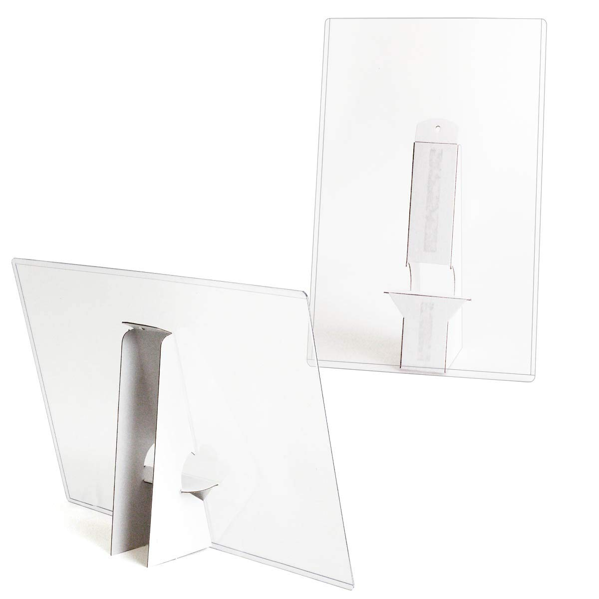 StoreSMART - 8 1/2'' x 14'' - Crystal-Clear Rigid Print Toploader Frame with 8'' Double Wing Easel Back - 10-Pack - HPP812X14EB-10