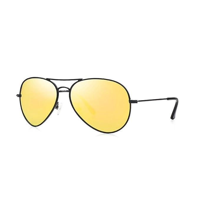 KALLA Unisex Aviator Sonnenbrille klassische Pilotenbrille polarisierten Sonnenbrille UV400 Schutz-(6024 Grey+Blue) NsArq