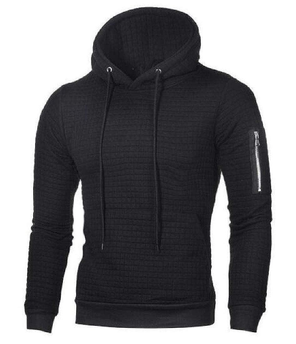 Fubotevic Mens Slim Fit Pullover Pocket Sports Long Sleeve Hoodies Sweatshirt