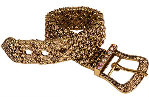 Hiddleston Women's Belt Shape Stretch & Adjustable Pave Bracelets with Elastic Band 7
