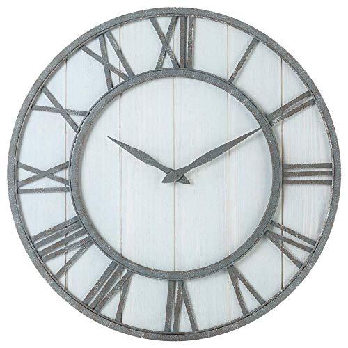 Toright Farm House Metal & Solid Wood Wall Clock Kitchen Wall Clock