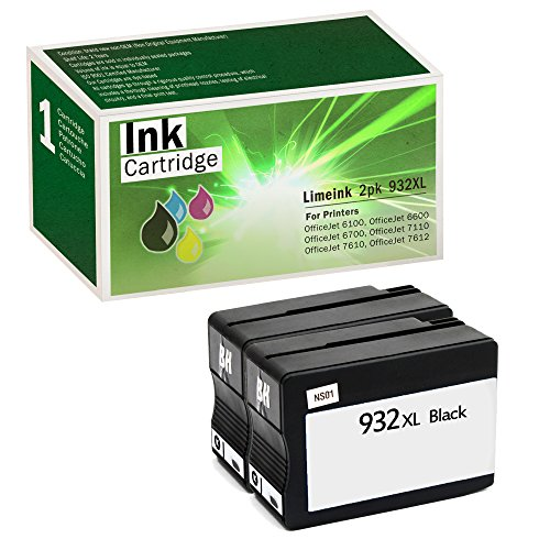 Limeink Compatible Ink Cartridge Replacements 932XL High Yield (2 Black, 2 Pack)