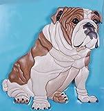 English Bulldog Art Intarsia