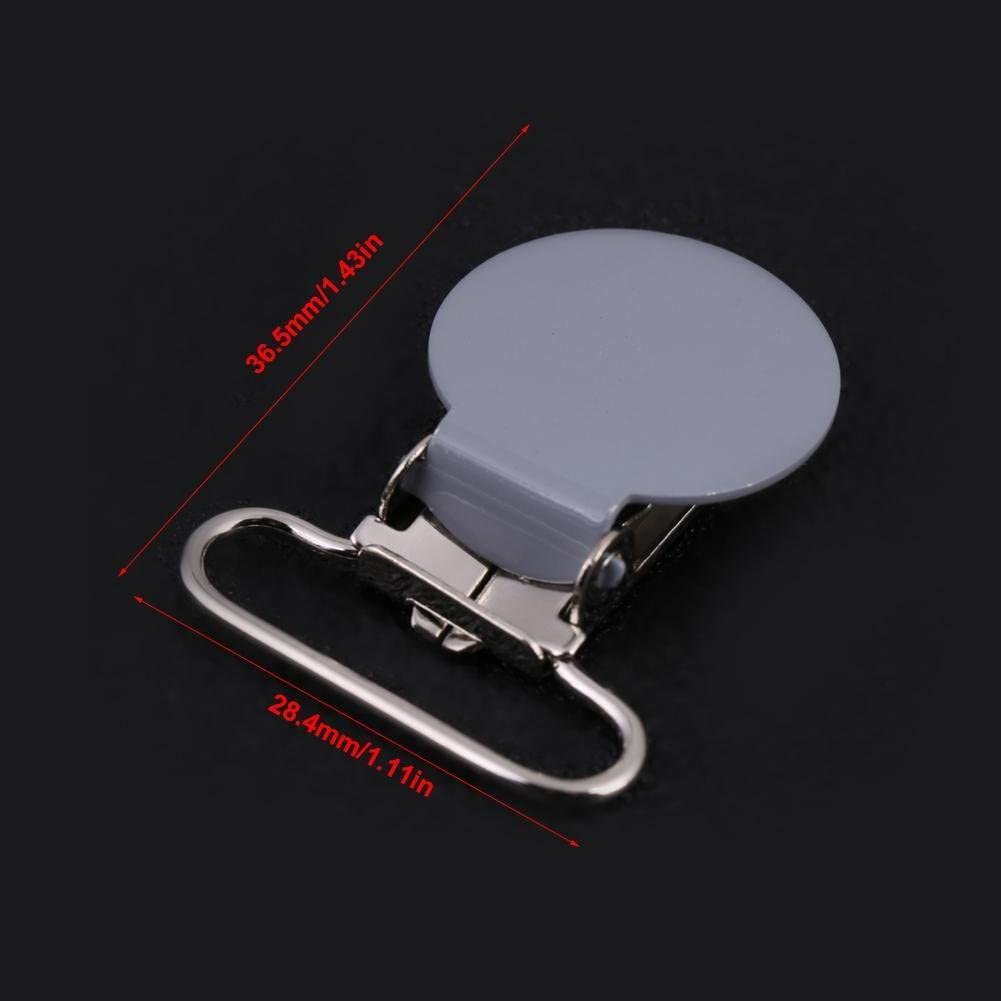 10/Unidades 25/mm Forma Redonda Metal Chupete Clips Tirantes Clips para Mordedor Juguete Hilitand Baby Chupete Clip Soporte