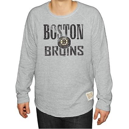 Original Retro Brand NHL Boston Bruins Men s Long Sleeve Deconstructed  Raglan Shirt 16c57856b