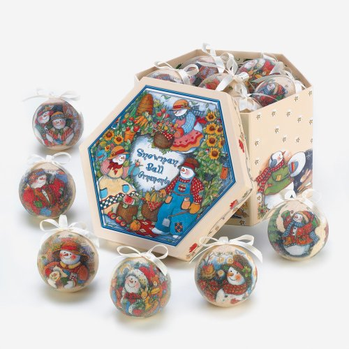 Country Snowman Ornament Box (Snowman Country Christmas Boxes)