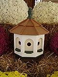 Medium Vinyl Birdhouse Amish Homemade Handmade Handcrafted White & Green