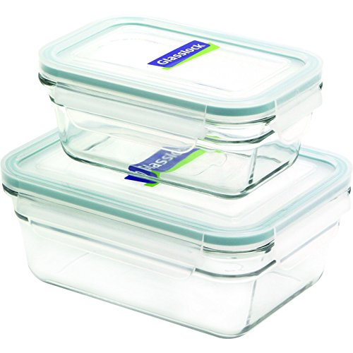 Glasslock 4-Piece Rectangle Oven Safe Container Set