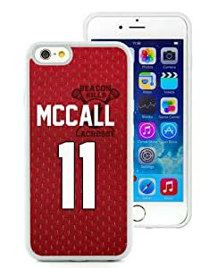 Newest iPhone 6/6S TPU Screen Case ,Unique And Fashionable Designed Case With Teen Wolf Scott McCall inspired jersey beacon hills lacrosse White iPhone 6/6S 4.7 Inch TPU Phone Case