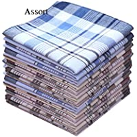 La Closure Mens Classic Color Strips Cotton Handkerchiefs Pack