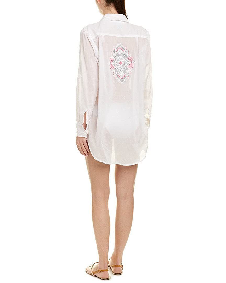 White Letarte Womens Tie Front CoverUp