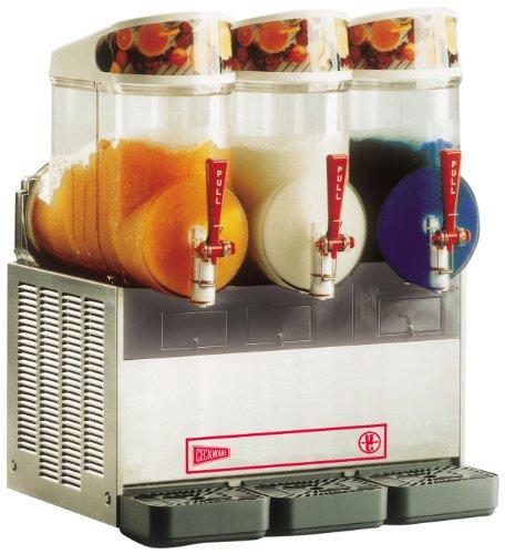 - Grindmaster-Cecilware NHT3UL FrigoGranita 3 Bowls in 2.5-Gallon Slush Dispenser, Stainless Steel