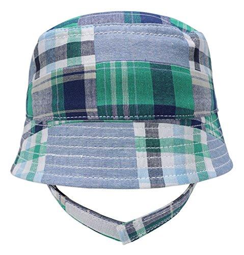 - Keepersheep Infant Baby Todder Boys' Girls' Sun Bucket Hat, Newborn Fisherman Bucket Hat(12-24 Months Green Plaid)